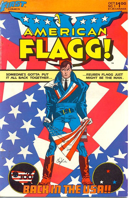 American Flagg 1 cover by Howard Chaykin