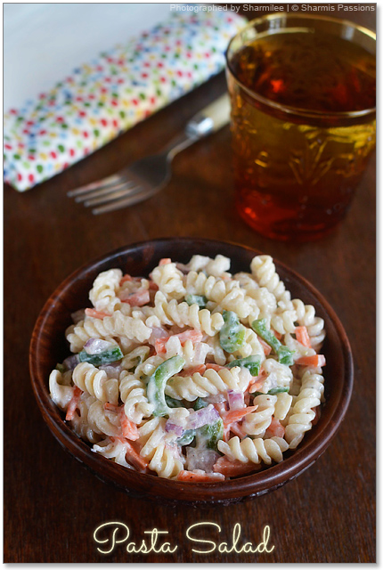 Pasta Salad With 1000 Island Dressing Sharmis Passions