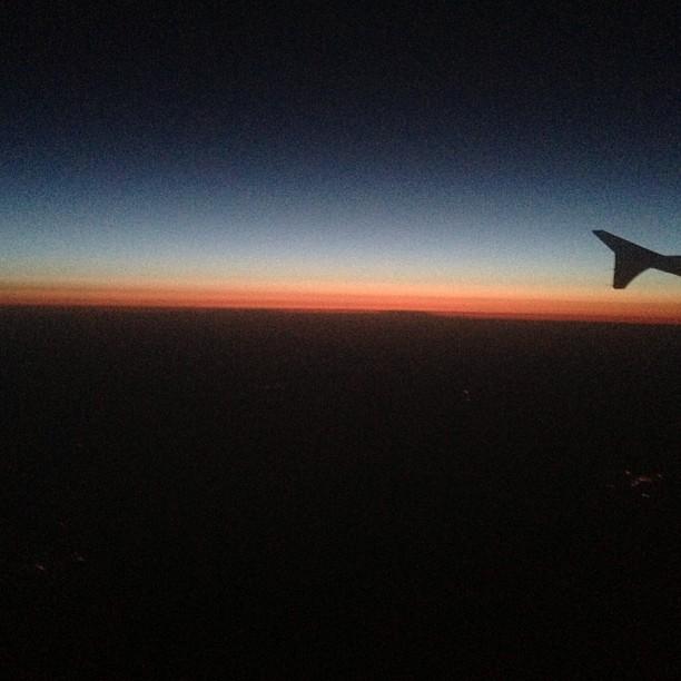 #plane #sunset