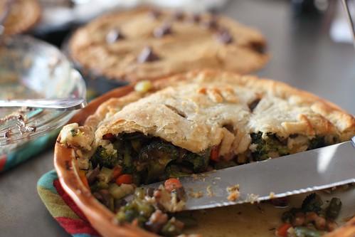 vegetarian savory Pi pie