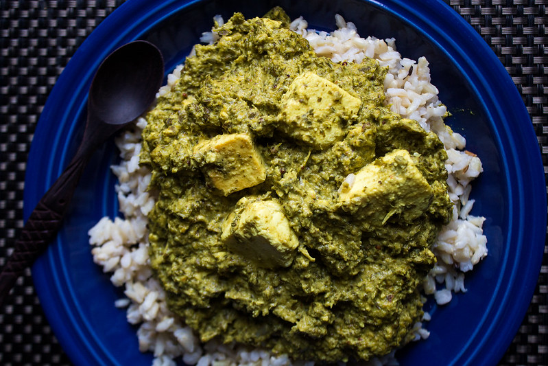 Palak Paneer with a kale twist