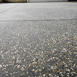 Salt & Pepper Exposed Aggregate Driveway Close Up