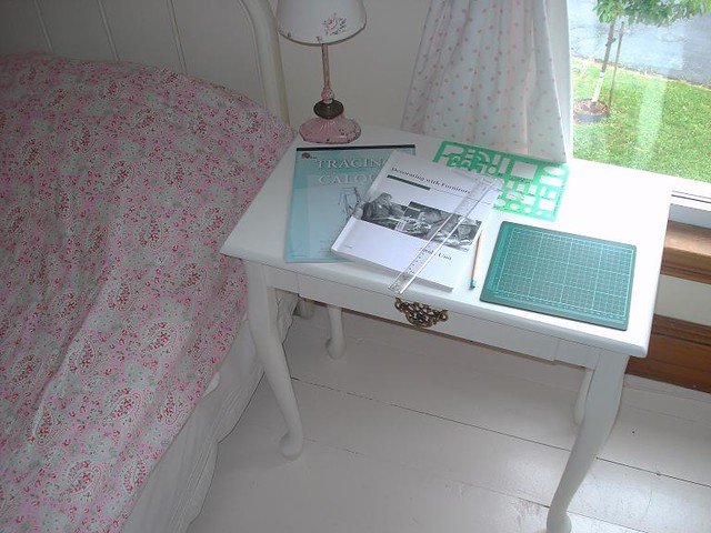 Very Small Desk Used As A Bedside Table Flickr Photo