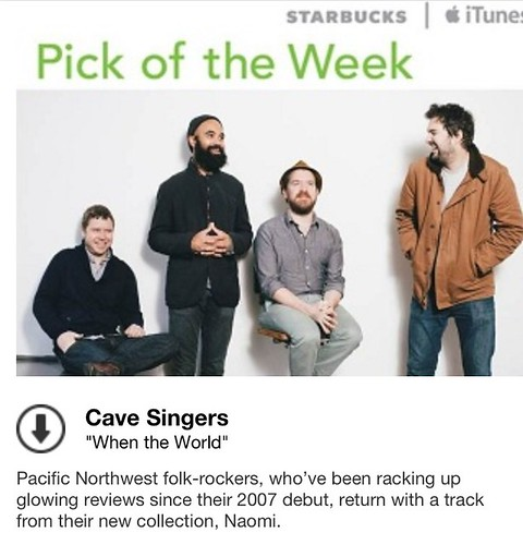 Starbucks iTunes Pick of the Week - Cave Singers - When The World