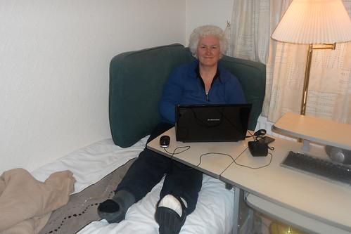 My temporary office post bunion surgery