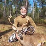 Deer hunter with a quality buck harvested on the Joe Budd WMA