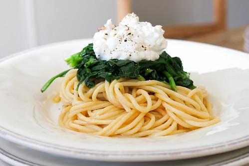 Spaghetti Spinat Ricotta