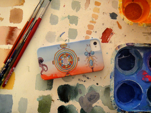 iPhone 4 with my Mandala cover by scott_waterman