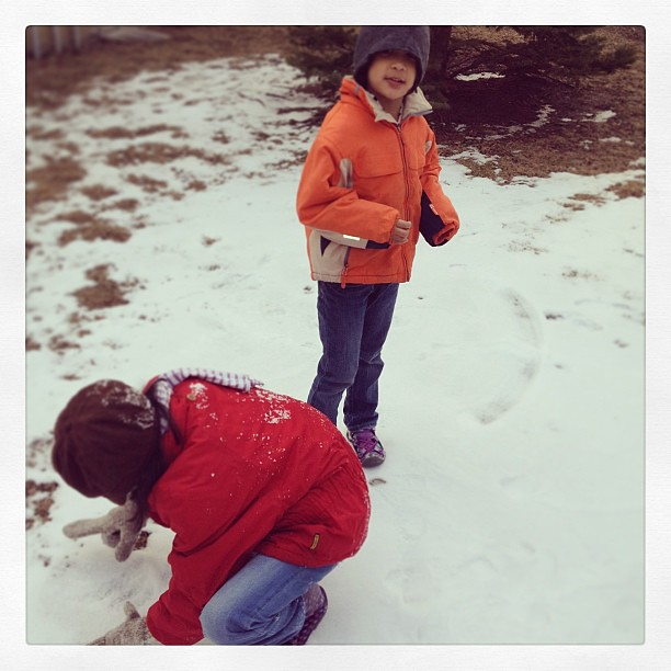 Everyone's sick of winter but our kids are still chasing snow.