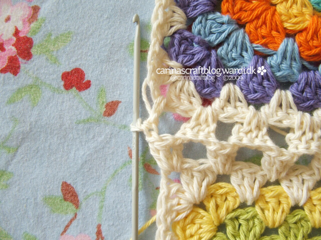 Crochet tutorial: joining granny squares 10