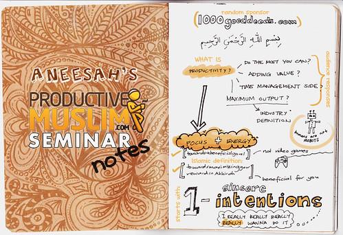 Doodlonotes: ProductiveMuslim Seminar 2012