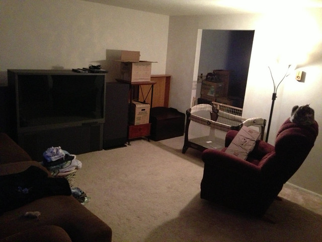 Living Room, Almost Packed