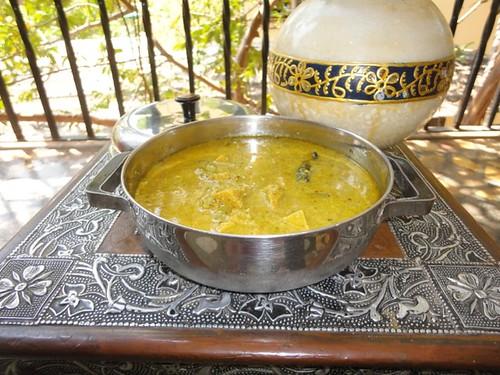 Wadi Sambhar - Maharashtrian recipe with Steamed dumplings