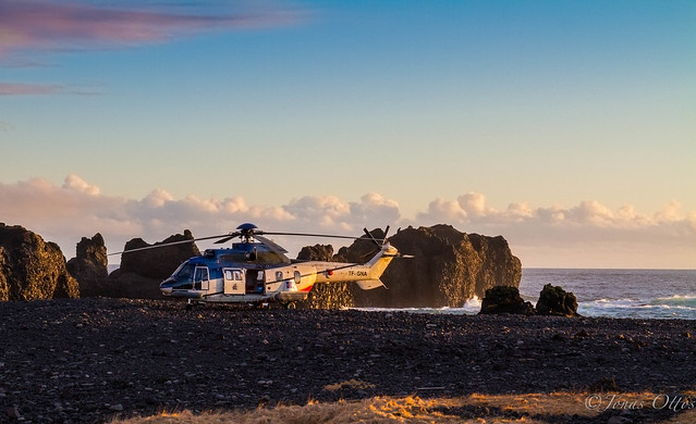 Icelandic Coast Guard Helicopter in Snæfellsnes
