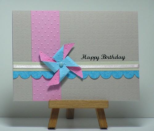 Pink & Blue Pinwheel by cathroff