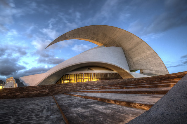 Auditorio at night...