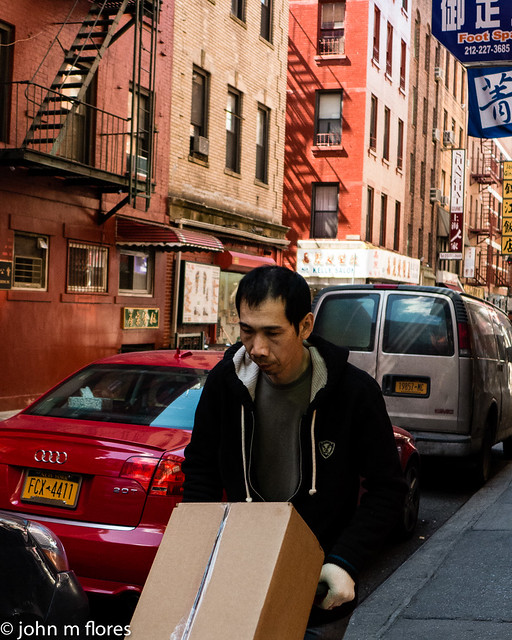 Deliveryman in Chinatown New York