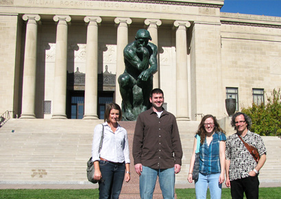 Philosophy students at the William Rockhill Nelson Gallery of Art in Kansas City, Mo.