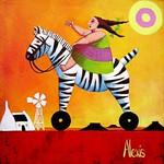 Child on a zebra