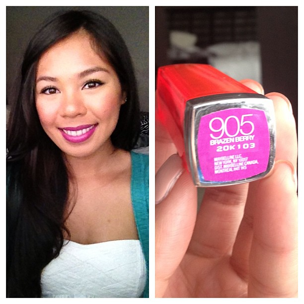 Lovin this lip color. Go git it! Brazen Berry! Maybelline.