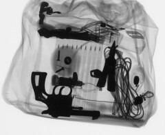 X-ray image of a bag - Baggage Screening