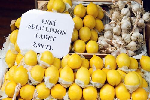 Garlic and lemons