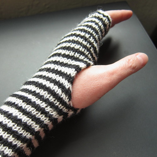 Breton Stripe Handwarmers