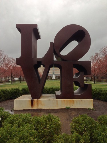 The original Robert Indiana LOVE sculpture