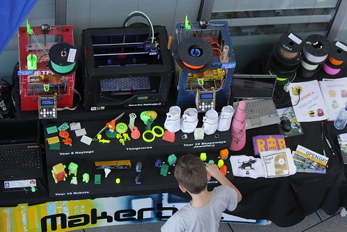 3D printers at Adelaide Mini Maker Faire; photo by Jess Gunn