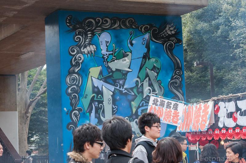Los puestos de comida en el Parque Yoyogi de Tokio