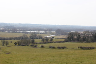 View down to the river Nene