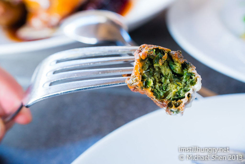 Cafe Sydney spinach bhaji