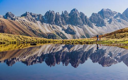 blue green slr nature austria mirror see tirol österreich nikon europa hiking spiegel urlaub herbst hike alpen mgm sonnig sonne wandern tyrol sellrain apls travelphotography reisefotografie spiegelsee kalkkögel salfeinssee