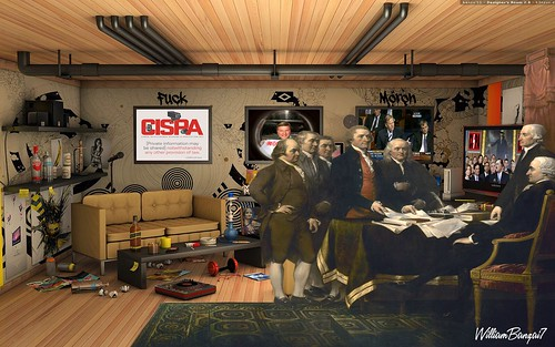 FOUNDING FATHERS MEETING IN THEIR MOM'S BASEMENT by WilliamBanzai7/Colonel Flick