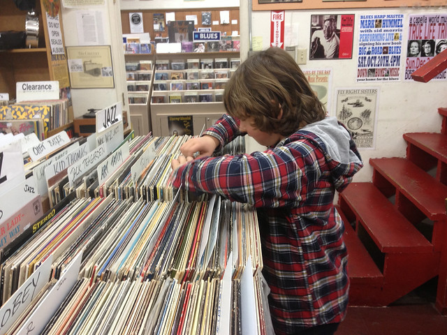 Miles record shopping