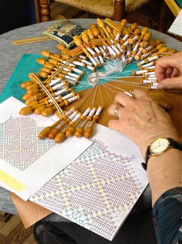 Bruges - bobbin lace making