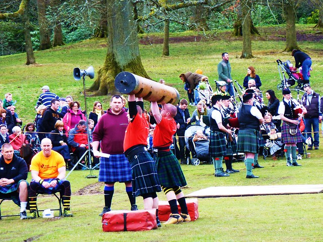 Strong Man Competition, Highland Games, Glasgow, Scotland