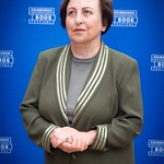 Shirin Ebadi | The first Muslim woman and first Iranian to win a Nobel Peace Prize during her press photocall © Alan McCredie