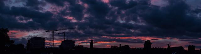 August sunset, north London