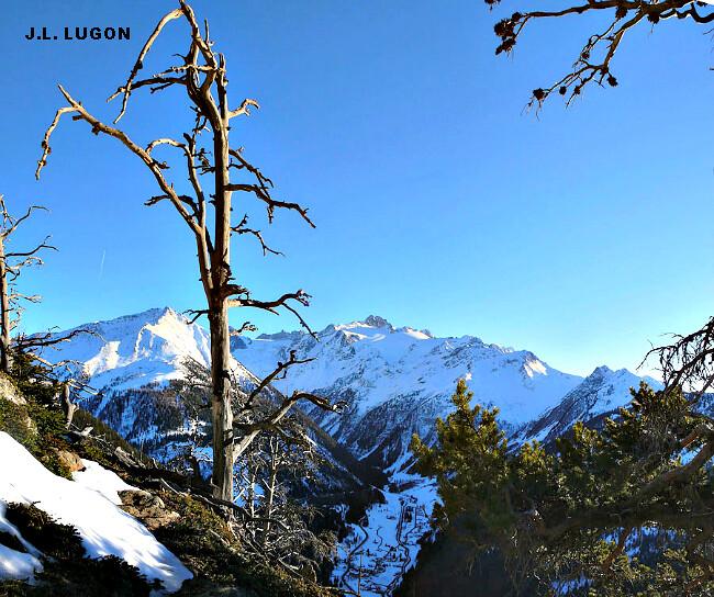massif du Mont Blanc lors du record de chaleur à Chamonix le 7 février 2011 météopassion