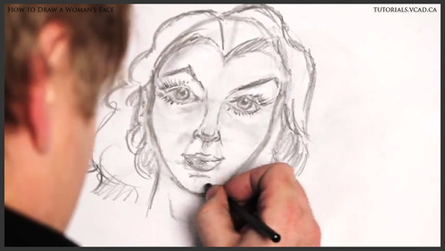 learn how to draw a womans face 022