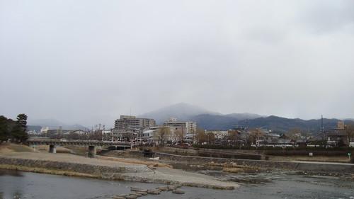 2013/02 鴨川デルタと比叡山方面