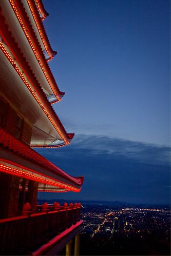 county blue red sky building skyline architecture night canon landscape asian reading lights pagoda raw cityscape jessica chinese nighttime jess hdr berks photomatix jesspetro petrohoy