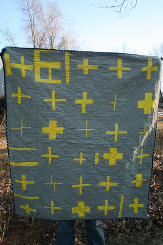 Yellow Cross Quilt