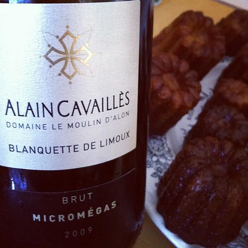 #Blanquette de #Limoux Alain Cavailles 2009 et canelés #miam #glouglou #wine #vin