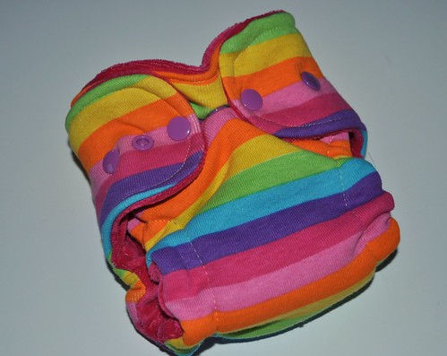 Bumstoppers Newborn  Sherbet Rainbow Hybird Fitted **New Style**