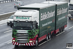 Scania R440 6x4 Curtainside with Drawbar Curtainside Trailer - PN11 YJR - Kaitlin Molly - Eddie Stobart - M1 J10 Luton - Steven Gray - IMG_1904
