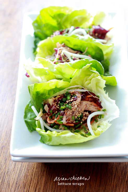 asian chicken lettuce wraps 1