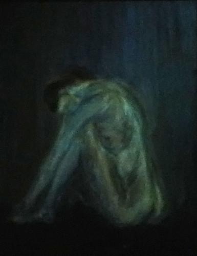 "Bending Nude Profile, 20""x16"", 1997, Matthew Felix Sun"