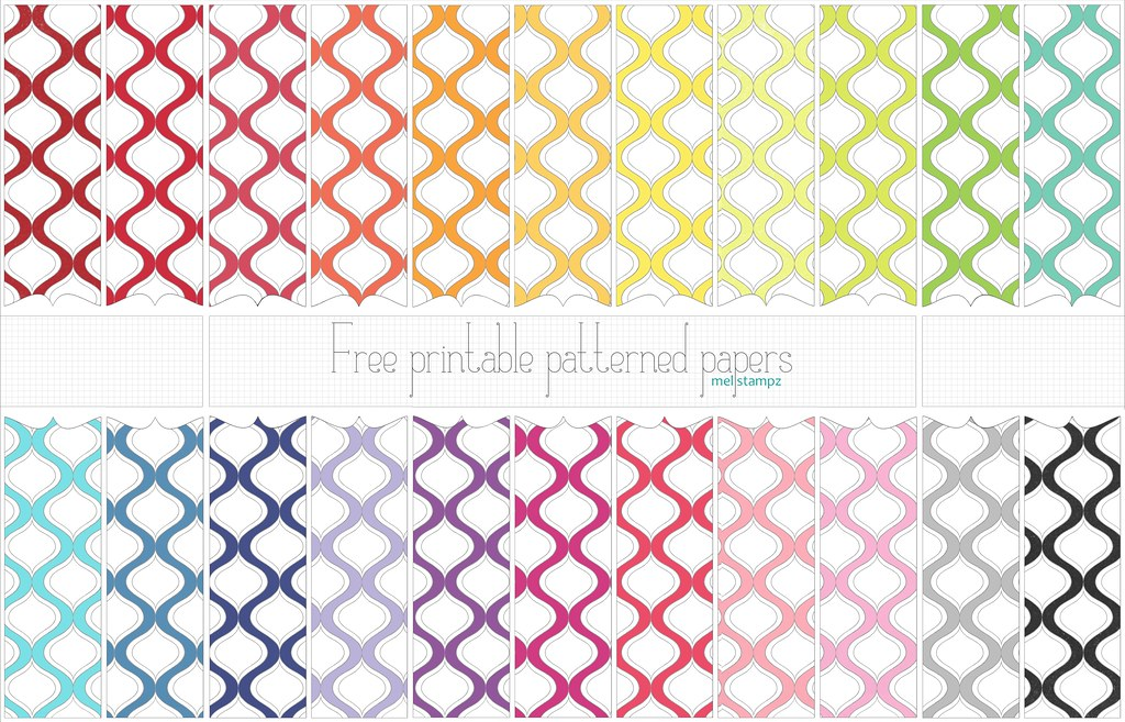 image relating to Free Printable Pattern Paper identified as melstampzs maximum exciting Flickr images Picssr